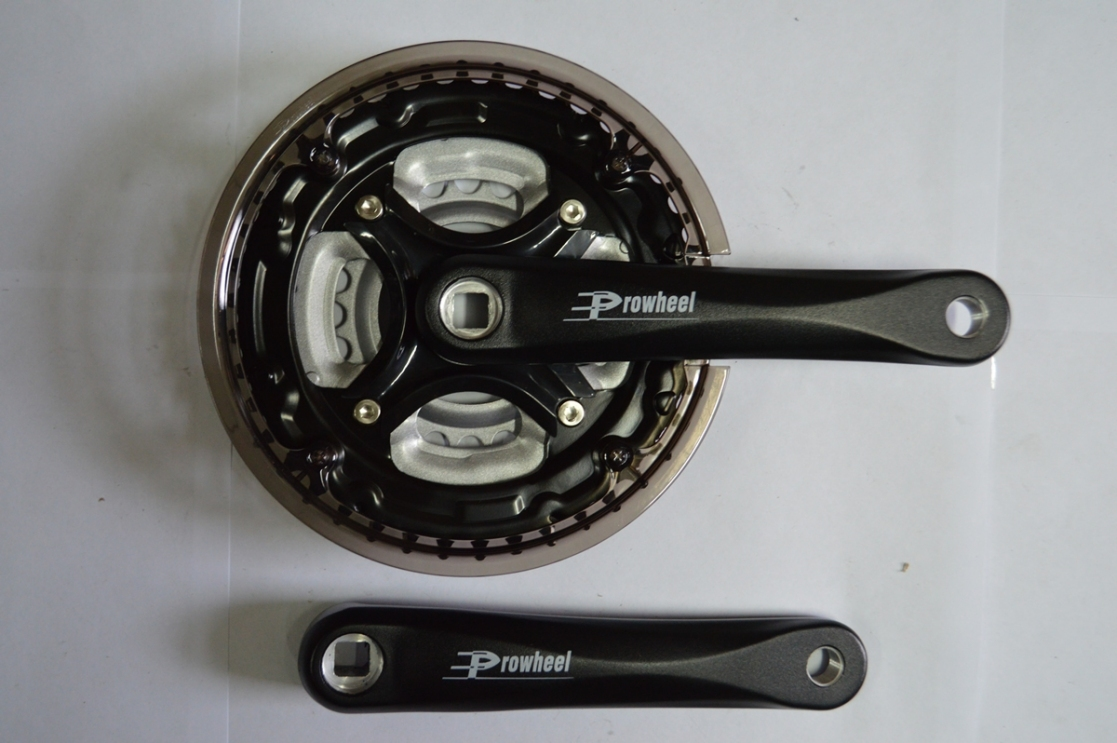 Шатун комплект спорт. 26 PROWHEEL алюм. 42/34/24 170 мм, код 422